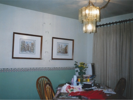 BEFORE - Cluttered Dining Room Table